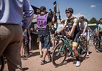 Dylan Groenewegen (NED/Lotto NL Jumbo) pre race. <br /> <br /> Stage 9: Arras Citadelle > Roubaix (154km)<br /> <br /> 105th Tour de France 2018<br /> ©kramon