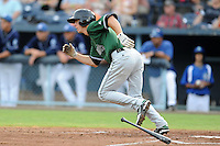 Augusta GreenJackets shortstop Matt Duffy #2 swings at a pitch during a game against the Asheville Tourists at McCormick Field on June 27, 2013 in Asheville, North Carolina. The Tourists won the game 10-6. (Tony Farlow/Four Seam Images)