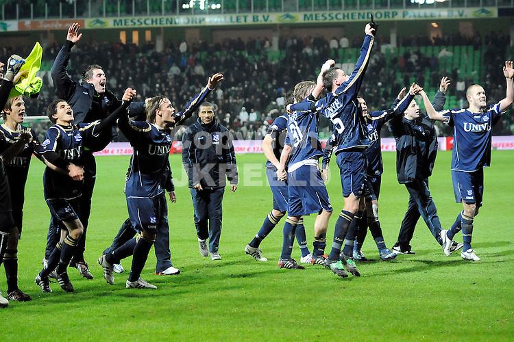 voetbal fc groningen - sc heerenveen eredivisie seizoen 2008-2009 28-12-2008  heerenveen viert zege. fotograaf jan kanning . . .