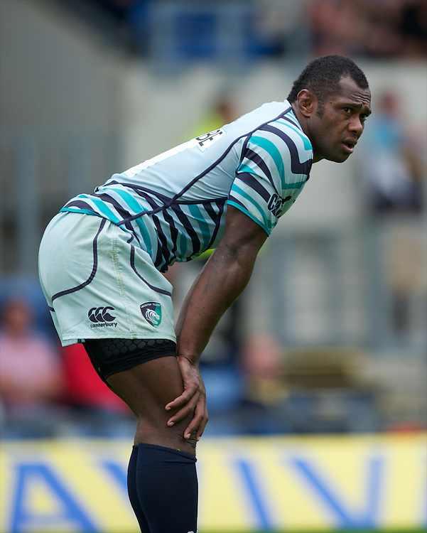 Vereniki Goneva of Leicester Tigers during the Aviva Premiership match between London Welsh and Leicester Tigers at the Kassam Stadium on Sunday 2nd September 2012 (Photo by Rob Munro)