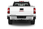 Straight rear view of a 2015 GMC Sierra 1500 SLE 4 Door Pick-up Rear View  stock images