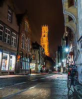 Bell Tower in Bruges, Belgium