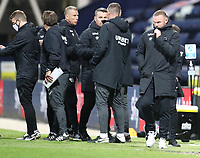 20th April 2021; Deepdale, Preston, Lancashire, England; English Football League Championship Football, Preston North End versus Derby County; Derby County manager Wayne Rooney walks to the tunnel after the match ends in a 3-0 Derby defeat
