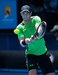 Andy Murray (GBR) defeats Yuki Bhambri (IND) 6-3, 6-4, 7-6
