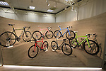 The V1r collection on display in the showroom, Colnago Factory, Cambiago, Italy. 30th September 2015.<br /> Picture: Eoin Clarke | Newsfile