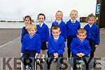 Miss Pierce's junior infants class  in Sliabh a' Mhadra NS. Seated l to r: Jake Walsh, Darragh Carey and John Roberts. Back l to r: Aodhamair Barron, Íde Condon, Leah O'Grady, Paige Harrington and Melissa McDermott Roe.