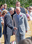 Prince Charles,  Prince of Wales and Camilla, Dutchess of Cornwall visit Victoria Park in Swansea today to help celebrate the 50th anniversary of Swanseas achieving City status.