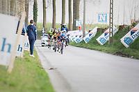 breakaway group / race leaders<br /> <br /> 72nd Nokere Koerse 2017 (1.HC)