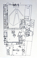 World Civilization:  Ottoman Architecture--Plan of Topkapi Palace.  #9 is the Harem.  ISLAM,  Umberto Scerrato.