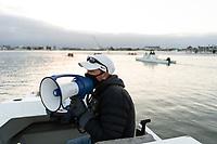 REDWOOD CITY, CA - APRIL 22: Derek Byrnes at Stanford Boathouse on April 22, 2021 in Redwood City, California.