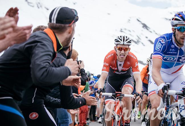 Bauke Mollema (NED/Trek-Segafredo) coming up the Passo dello Stelvio (alt: 2758m)<br /> <br /> Stage 16: Rovett › Bormio (222km)<br /> 100th Giro d'Italia 2017