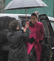 NEW YORK, NY - DECEMBER 09: Catherine, Duchess of Cambridge, visits the National September 11 Memorial Museum with her husband Prince William, Duke of Cambridge on December 9, 2014 in New York City. The couple, who are traveling without their son Prince George, are on a three-day US east coast visit. This is the Duke and Duchess' first official visit to New York City.<br /> <br /> People:  Catherine, Duchess of Cambridge