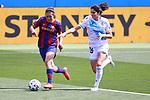 Liga IBERDROLA. Game 26.<br /> FC Barcelona vs RC Deportivo: 9-0.<br /> Mariona Caldentey vs Patricia Lopez.