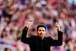 Atletico de Madrid Head Coach Diego Simeone gestures during the La Liga 2018-19 match between Atletico de Madrid and Real Betis at Wanda Metropolitano Stadium on October 07 2018 in Madrid, Spain. Photo by Diego Souto / Power Sport Images
