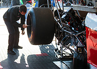 Apr 14, 2019; Baytown, TX, USA; Crew members for NHRA top fuel driver Doug Kalitta during the Springnationals at Houston Raceway Park. Mandatory Credit: Mark J. Rebilas-USA TODAY Sports