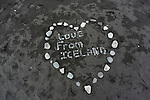 Found this message on the Black Beach, South Coast of Iceland.  (Bob Gathany)