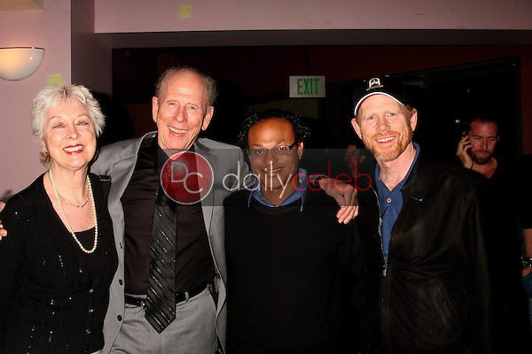 Judy Howard and Rance Howard with Clinton H. Wallace and Ron Howard<br />