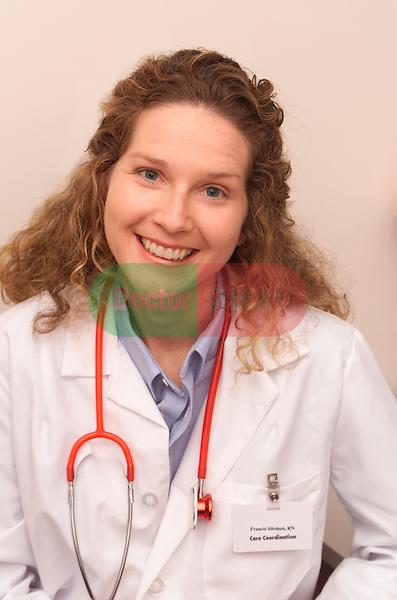 portrait of smiling female doctor or nurse