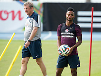 Raheem Sterling and England manager Roy Hodgson