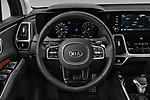 Car pictures of steering wheel view of a 2021 KIA Sorento SX 5 Door SUV Steering Wheel