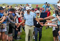 150719 | The 148th Open - Monday Practice<br /> <br /> Dustin Johnson of USA during practice for the 148th Open Championship at Royal Portrush Golf Club, County Antrim, Northern Ireland. Photo by John Dickson - DICKSONDIGITAL