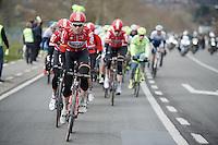 Pim Ligthart (NLD/Lotto-Soudal) leading up the Nieuwe Kwaremont<br /> <br /> 71st Dwars door Vlaanderen (1.HC)