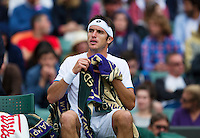 England, London, 28.06.2014. Tennis, Wimbledon, AELTC, Leonardo Mayer (ARG)<br /> Photo: Tennisimages/Henk Koster