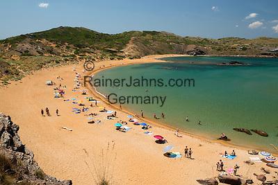 Spain, Menorca, near Fornells: Platja de Cavalleria   Spanien, Menorca, bei Fornells: Platja de Cavalleria