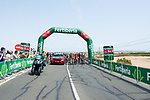 The start of Stage 8 of La Vuelta d'Espana 2021, running 173.7km from Santa Pola to La Manga del Mar Menor, Spain. 21st August 2021.     <br /> Picture: Cxcling | Cyclefile<br /> <br /> All photos usage must carry mandatory copyright credit (© Cyclefile | Cxcling)