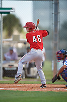 Gregory Ziegler during the WWBA World Championship at the Roger Dean Complex on October 18, 2018 in Jupiter, Florida.  Gregory Ziegler is an outfielder from Joliet, Illinois who attends Joliet Catholic Academy and is committed to Missouri State.  (Mike Janes/Four Seam Images)