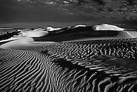 Black and White of Sand dunes in the Simpson desert, Australia