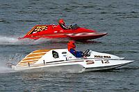Becky Cravens Brewer, S-12 Fools Gold (1980 Staudacher 2.5 Stock S-Bottom Hydroplane), Wayne Butler, S-77 (Ron Jones cabover hydroplane)