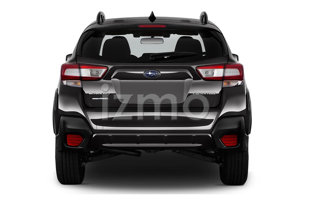 Straight rear view of 2020 Subaru Crosstrek Premium 5 Door SUV Rear View  stock images