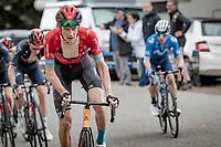Jack Haig (AUS/Bahrain Victorious) attacking the bunch up the Col de Joux Plane (HC/1691m/11.6 km@8.5 %)<br /> <br /> 73rd Critérium du Dauphiné 2021 (2.UWT)<br /> Stage 8 (Final) from La Léchère-Les-Bains to Les Gets (147km)<br /> <br /> ©kramon