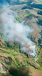 Deforestation, forest burning and fragmentation and land slides (lavaka) central highlands, Madagascar.