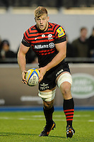 20131103 Copyright onEdition 2013©<br /> Free for editorial use image, please credit: onEdition<br /> <br /> George Kruis of Saracens in action during the Premiership Rugby match between Saracens and Newcastle Falcons at Allianz Park on Sunday 3rd November 2013 (Photo by Rob Munro)<br /> <br /> For press contacts contact: Sam Feasey at brandRapport on M: +44 (0)7717 757114 E: SFeasey@brand-rapport.com<br /> <br /> If you require a higher resolution image or you have any other onEdition photographic enquiries, please contact onEdition on 0845 900 2 900 or email info@onEdition.com<br /> This image is copyright onEdition 2013©.<br /> This image has been supplied by onEdition and must be credited onEdition. The author is asserting his full Moral rights in relation to the publication of this image. Rights for onward transmission of any image or file is not granted or implied. Changing or deleting Copyright information is illegal as specified in the Copyright, Design and Patents Act 1988. If you are in any way unsure of your right to publish this image please contact onEdition on 0845 900 2 900 or email info@onEdition.com