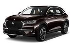 2021 Ds DS-7-Crossback Rivoli 5 Door SUV Angular Front automotive stock photos of front three quarter view