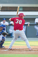 Casey Grayson (38) of the Johnson City Cardinals at bat against the Burlington Royals at Burlington Athletic Park on July 14, 2014 in Burlington, North Carolina.  The Cardinals defeated the Royals 9-4.  (Brian Westerholt/Four Seam Images)