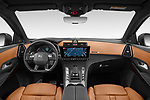 Stock photo of straight dashboard view of 2021 Ds DS-7-Crossback Rivoli 5 Door SUV Dashboard