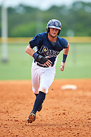 GCL Rays third baseman Allen Smoot (3) runs the bases during the first game of a doubleheader against the GCL Twins on July 18, 2017 at Charlotte Sports Park in Port Charlotte, Florida.  GCL Twins defeated the GCL Rays 11-5 in a continuation of a game that was suspended on July 17th at CenturyLink Sports Complex in Fort Myers, Florida due to inclement weather.  (Mike Janes/Four Seam Images)
