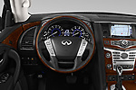 Car pictures of steering wheel view of a 2019 Infiniti QX80 Base 5 Door SUV