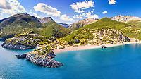 The beach Limnionas in Evia island, Greece