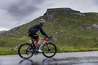 Toms Skujins (LVA/Trek-Segafredo) up the Cormet de Roselend<br /> <br /> Stage 9 from Cluses to Tignes (144.9km)<br /> 108th Tour de France 2021 (2.UWT)<br /> <br /> ©kramon