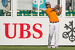 Lee Chieh-po of Taiwan tees off the first hole during the 58th UBS Hong Kong Golf Open as part of the European Tour on 08 December 2016, at the Hong Kong Golf Club, Fanling, Hong Kong, China. Photo by Marcio Rodrigo Machado / Power Sport Images