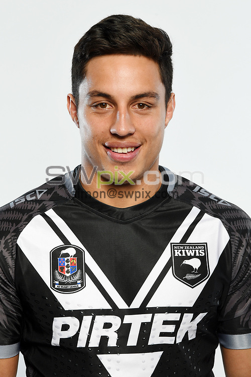Joseph Tapine.<br /> Headshots of the New Zealand Kiwis rugby league team, Auckland, New Zealand. 7 October 2018.<br /> Copyright photo: Andrew Cornaga / www.photosport.nz - ©PhotosportNZ/SWpix.com