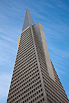 Color image of the iconic Transamerica Building in San Francisco