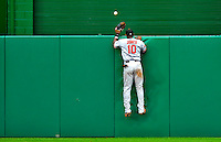 24 May 2009: Baltimore Orioles' center fielder Adam Jones watches an Adam Dunn homer clear the fences during a game against the Washington Nationals at Nationals Park in Washington, DC. The Nationals rallied to defeat the Orioles 8-5 and salvage a win in their interleague series. Mandatory Credit: Ed Wolfstein Photo