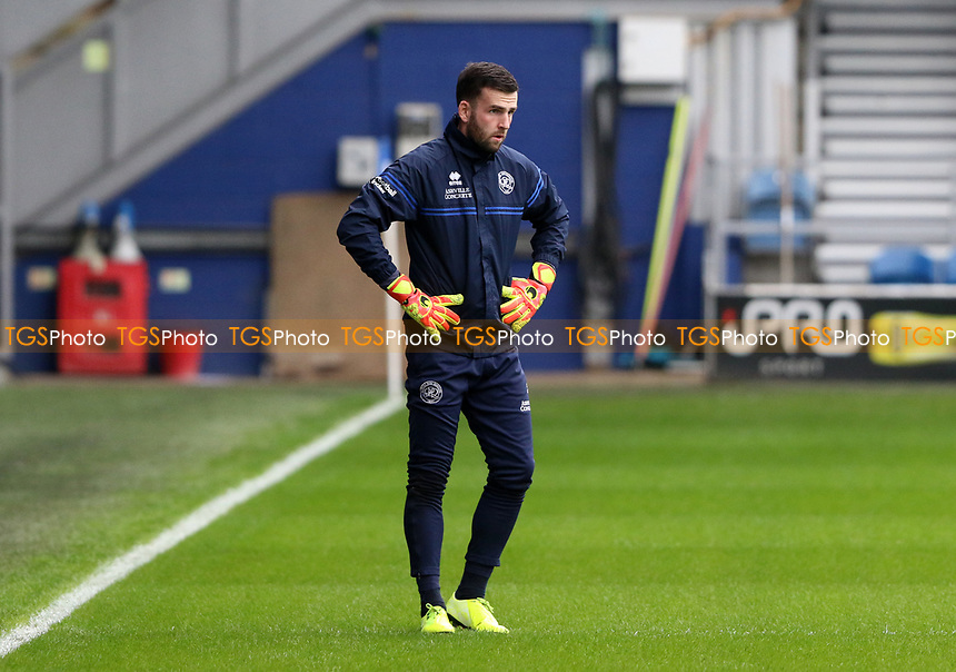 Liam Kelly of Queens Park Rangers warming up during Queens Park Rangers vs Watford, Sky Bet EFL Championship Football at The Kiyan Prince Foundation Stadium on 21st November 2020