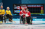 Marie Wright, PyeongChang 2018 - Wheelchair Curling // Curling en fauteuil roulant.<br /> Canada plays Sweden in Wheelchair curling // Le Canada affronte la Suède au curling en fauteuil roulant. 11/03/2018.