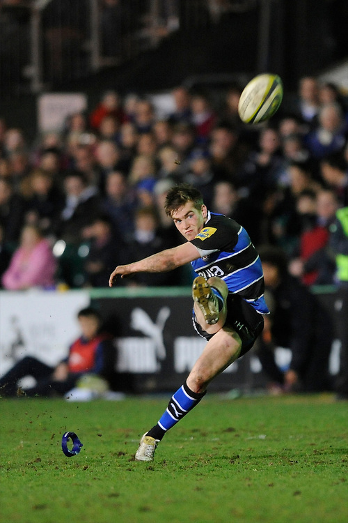 Tom Heathcote of Bath Rugby during the LV= Cup semi final match between Bath Rugby and Leicester Tigers at The Recreation Ground, Bath (Photo by Rob Munro, Fotosports International)